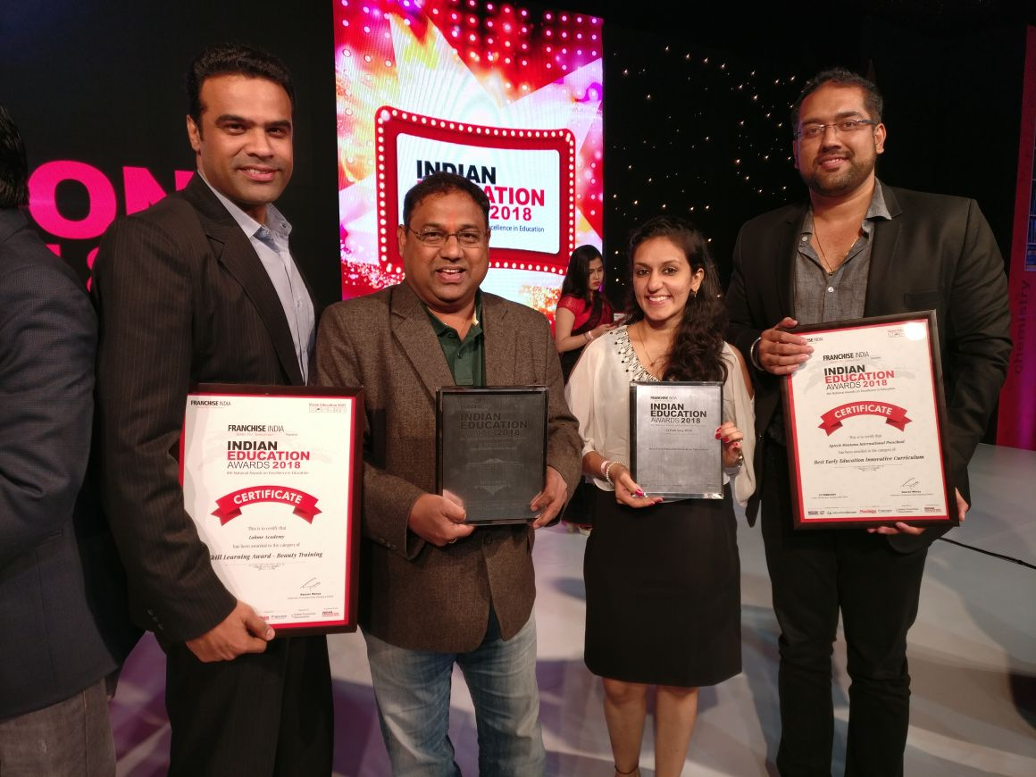 Lakmé Academy powered by Aptech wins the Indian Education Awards 2018, under the category 'Skill Learning Award – Beauty Training